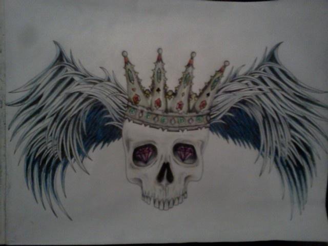 #skull #wings #crown #dark