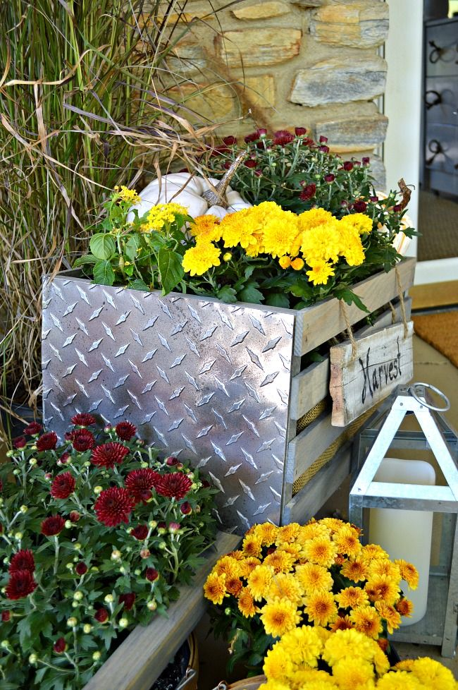 I like the idea-old crate-add a panel of metal on 2 sides-I actually might rather use rusted corrugated roof metal w/ some rust....