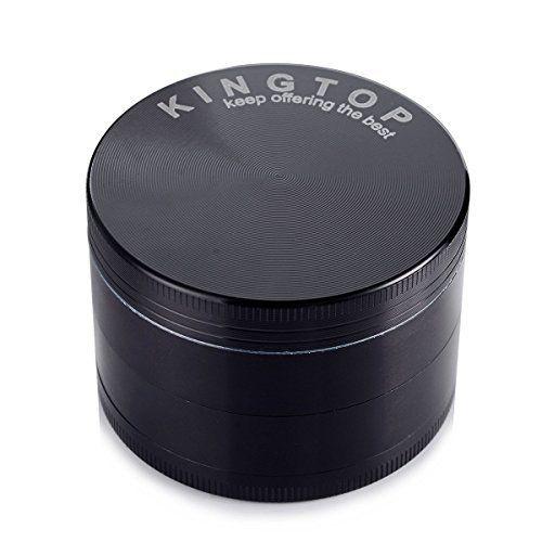 Herb Grinder Kingtop 4 Piece 2.36 Inch / 60mm Zinc Alloy Tobacco Spice Weed Grinder Black - http://spicegrinder.biz/herb-grinder-kingtop-4-piece-2-36-inch-60mm-zinc-alloy-tobacco-spice-weed-grinder-black/