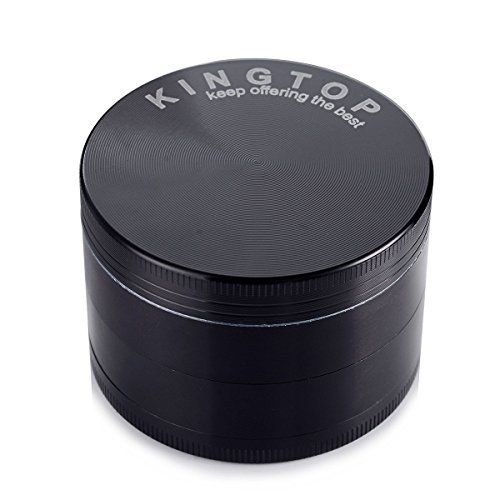Herb Grinder Kingtop 4 Piece 2.36 Inch / 60mm Zinc Alloy Tobacco Spice Weed Grinder Black - http://spicegrinder.biz/herb-grinder-kingtop-4-piece-2-36-inch-60mm-zinc-alloy-tobacco-spice-weed-grinder-black/