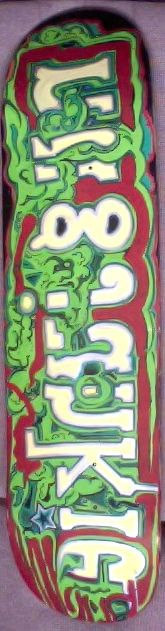 Hand painted nugjunkie ska8 board 90.00 + all local shipping rates apply