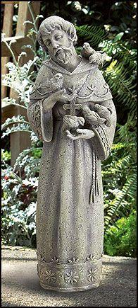 st francis w birds garden statue