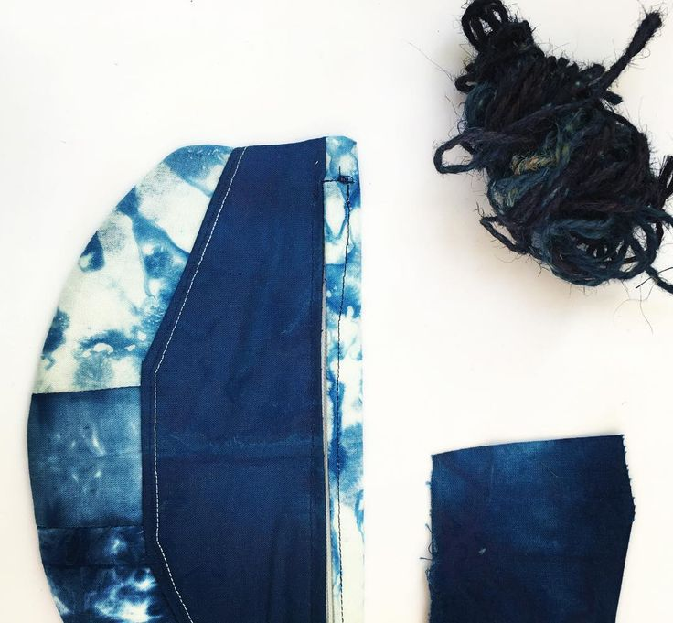 Finishing off a few of my summer projects before hitting the office again on Monday!! still working on my sewing skills but loving every minute of learning /// Fabric hand dyed with indigo