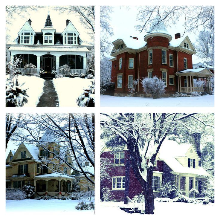 Snowfall in Galt, Ontario