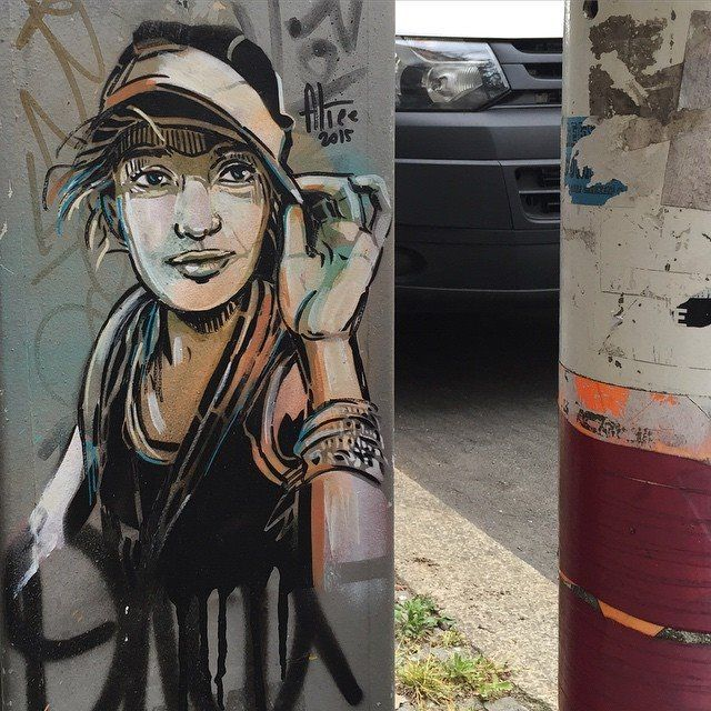 Alice Pasquini in Berlin Kreuzberg, 2015 Street artists