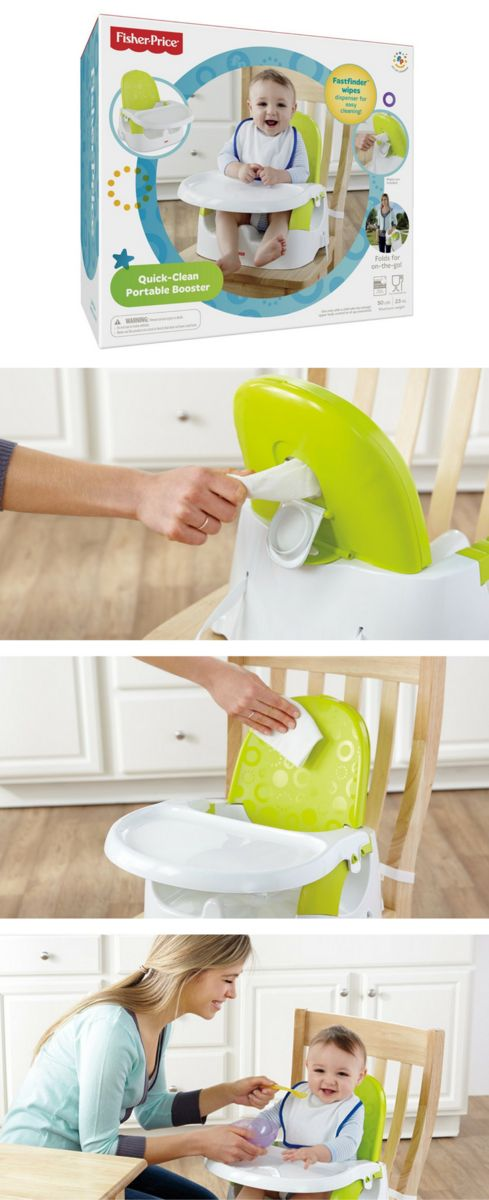 Tired of cleaning that high chair? I bet every mom is! Check out this Fisher Price Quick Clean Portable Booster Seat and your cleaning time will be cut in half.