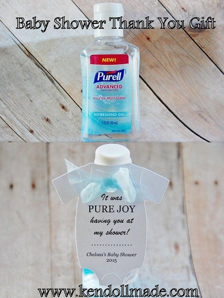 Hand Sanitizer Baby Shower Gift Tags ~ It was PURE joy having you at my shower! ~ Purell Hand Sanitizer ~ Before you meet our Baby ~ Cootie ~  KendollMade