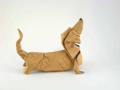 Origami Sausage Dog Basset Hound By Quentin Trollip