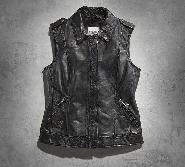 Harley Davidson-Women's Lexi Leather Vest $195.00