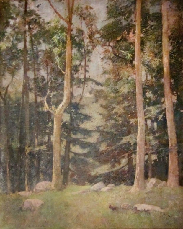 """""""Towering Trees,"""" Emil Carlsen, 1928; Private Collection"""