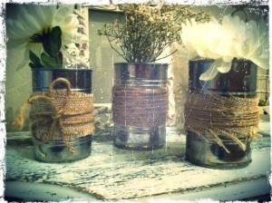 soup cans for flowers...Cotton Inspiration, Caleb Parties, Tin Cans, Fun Fun