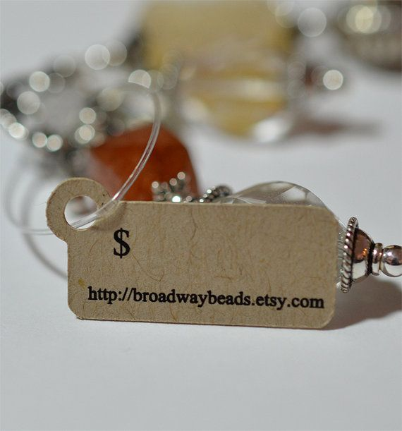Custom Jewelry Tags Hang Tags for Products Price by HomegrownGems