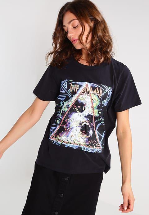 Bik Bok ROCK - T-shirt z nadrukiem - black - Zalando.pl