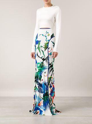 Roberto Cavalli Tropical Print Maxi Skirt - Marissa Collections - Farfetch.com