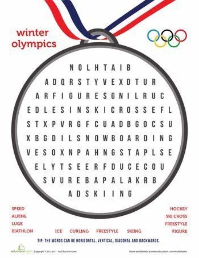 55 Winter Olympic Activities and Crafts for Kids - Tip Junkie