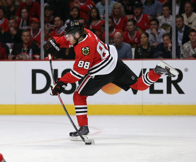 Kaner!  No goals, but was awesome on the forecheck.