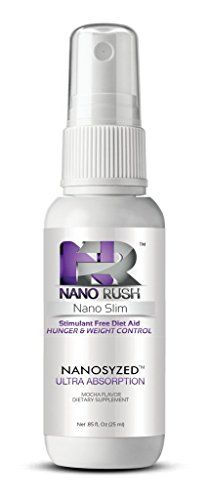 Nano Rush Nano Slim Stimulant Free Diet Aid Hunger & Weight Control with Nanotechnology 1 Oz Mocha Flavor Spray 30 Day Supply