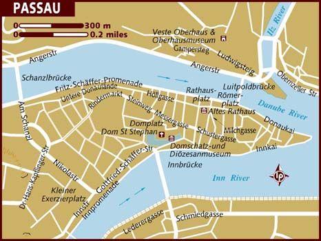 Passau Where The Inn The Danube And The Ilz Rivers Meet