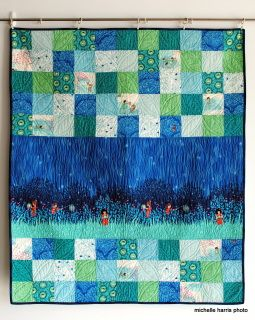 """48"""" x 54"""" Machine quilted, hand stitched binding, washed (so all shrinkage has already happened) there is a hand embroidered label on the back, so you can add an inscription  beautiful combination of colors, with a co-ordinating fabric used for the backing"""