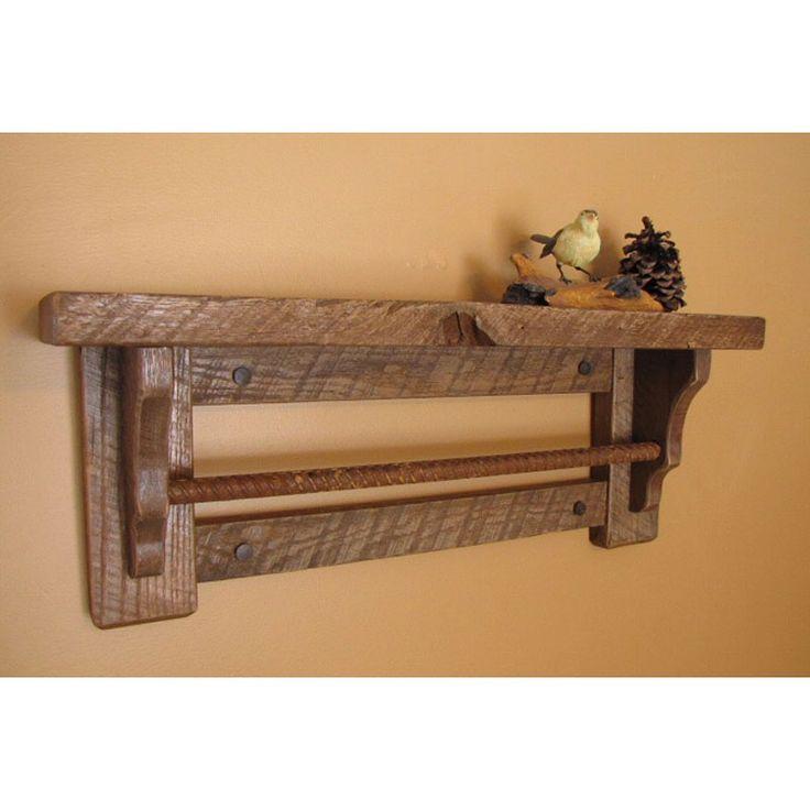 Wooden Shelf With Towel Bar: The Bathroom Towel Bar Wall Shelf