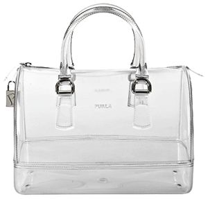 Furla clear plastic handbag. I would definitely keep it cleaner than my other handbags.
