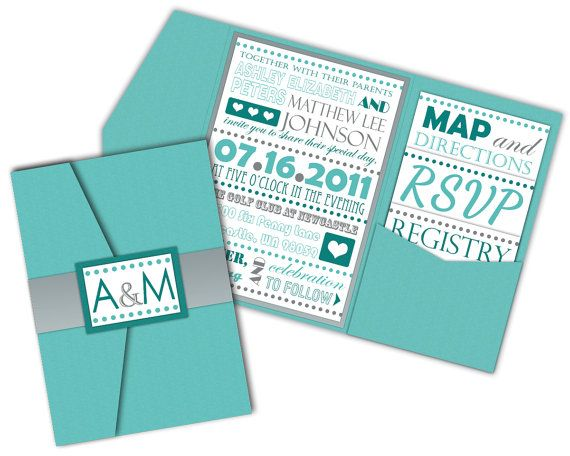 Fancy Typography Wedding Invitations. $50.00, via Etsy.