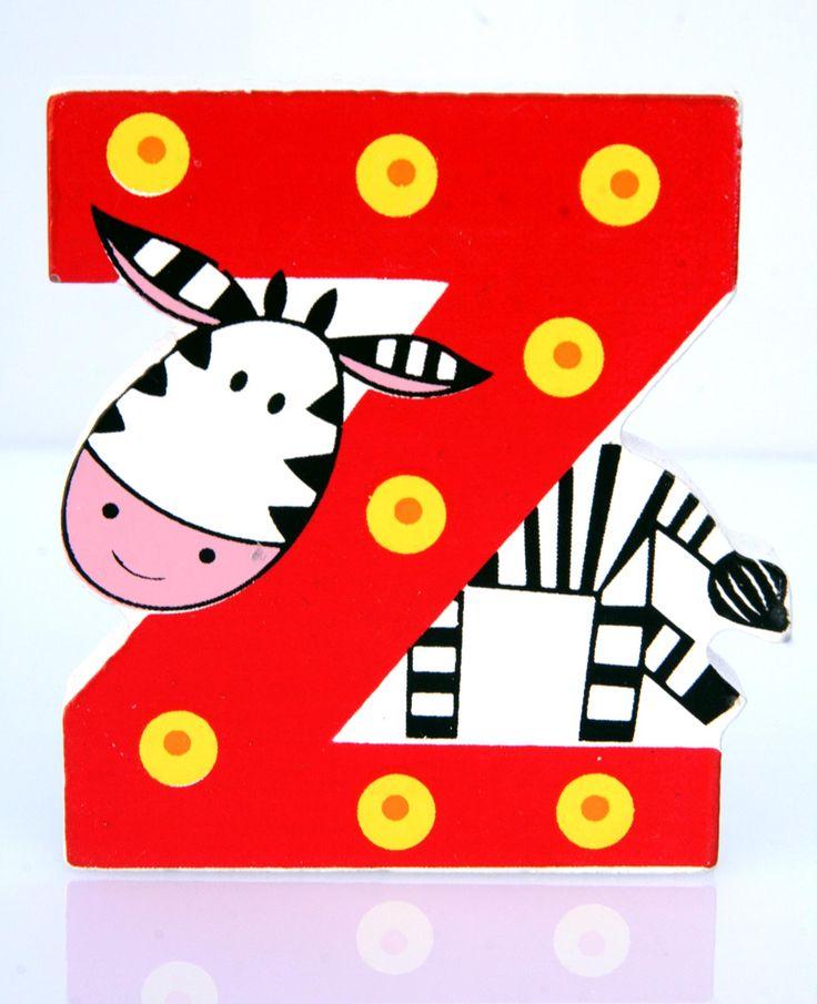 Simpatica lettera Z in Legno con l'aspetto di una Zebra, per decorare e rendere più bella la cameretta componendo nomi, frasi. Sono disponibili tutte le lettere dell'alfabeto  Può essere appoggiata su una mensola oppure si puo' fissare con colla o biadesivo o possono anche essere utilizzate per giocare.  Dimensioni cm 6,5 x 7 x 1  Materiale: Legno.   I colori possono cambiare in base alle disponibilita'