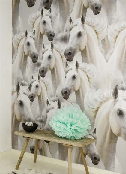 Ons assortiment | Onszelf | Kinderbehang | Little Horses | www.decoretteonline.nl