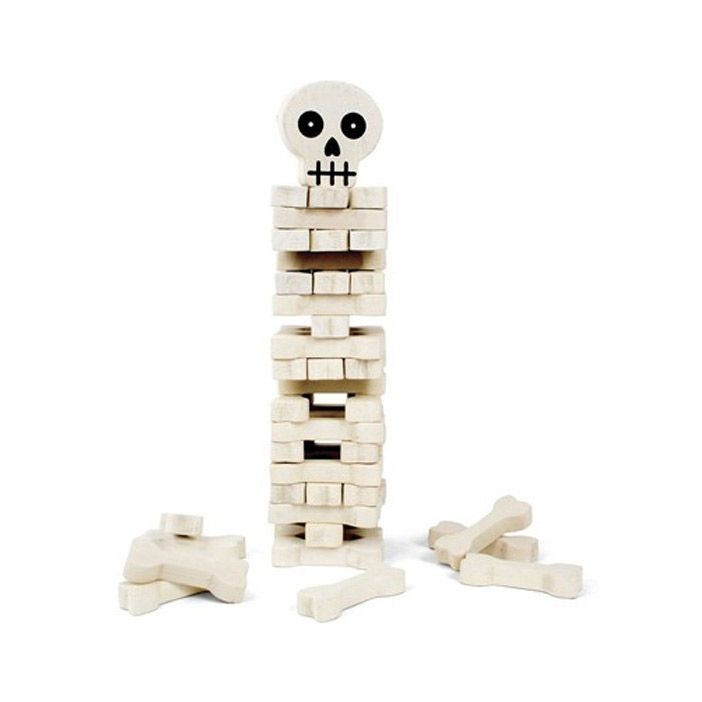 Stacking Bones Game | Every kid (or adult) will love this semi-creepy game. How high can you pile up these bones? If you miss just one, the whole tower will fall, no bones about it.