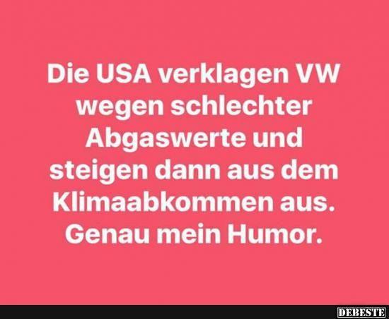 Die USA verklagen VW wegen schlechter Abgaswerte..