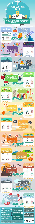 Die Feiertage 2017 – Verdoppeln Sie Ihren Urlaub mit einer cleveren Planung! Acht Urlaubstage nehmen und 16 Tage freimachen. Das geht nicht? Doch! Wir zeigen Ihnen, wie Sie Ihren Urlaub in 20…