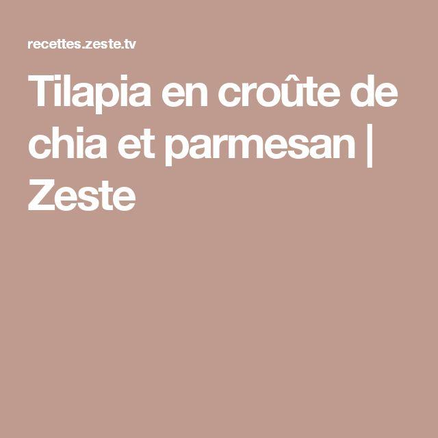 Tilapia en croûte de chia et parmesan   Zeste