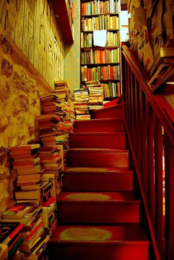 Book Stairs, Shakespeare and Company, Paris, France