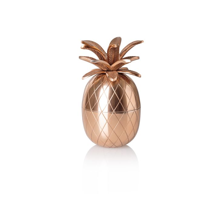Storing your treasured trinkets has become a little more interesting with our unique Copper Pineapple Trinket Pot, a metal storage pot with a textured finish
