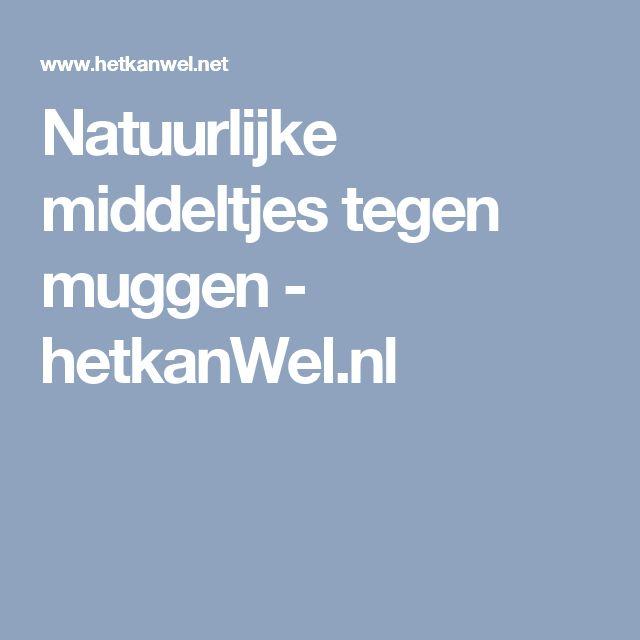 Natuurlijke middeltjes tegen muggen - hetkanWel.nl