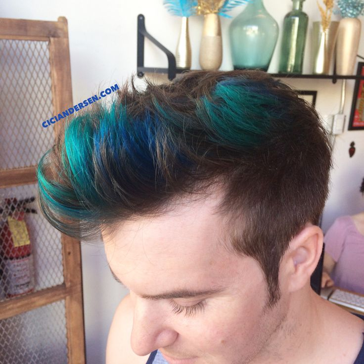 Teal and blue merman hair by Cici Andersen in NoHo, CA