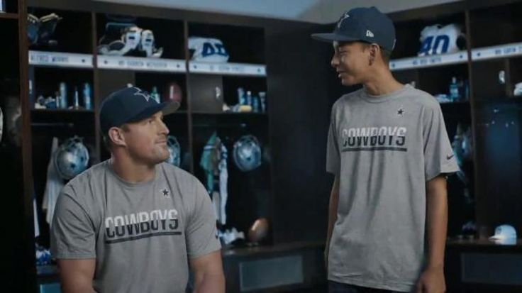 Jason Witten worked hard to earn the right to wear authentic NFL Cowboys attire, like catching over 1,000 passes and blocking some of the toughest in the league. But a fan's mom was able to score the same gear online at the NFL Shop. Luckily it doesn't take playing football for 13 seasons like Witten to join the NFL family and don your favorite team's gear.