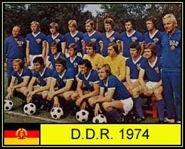 East Germany team group at the 1974 World Cup Finals.