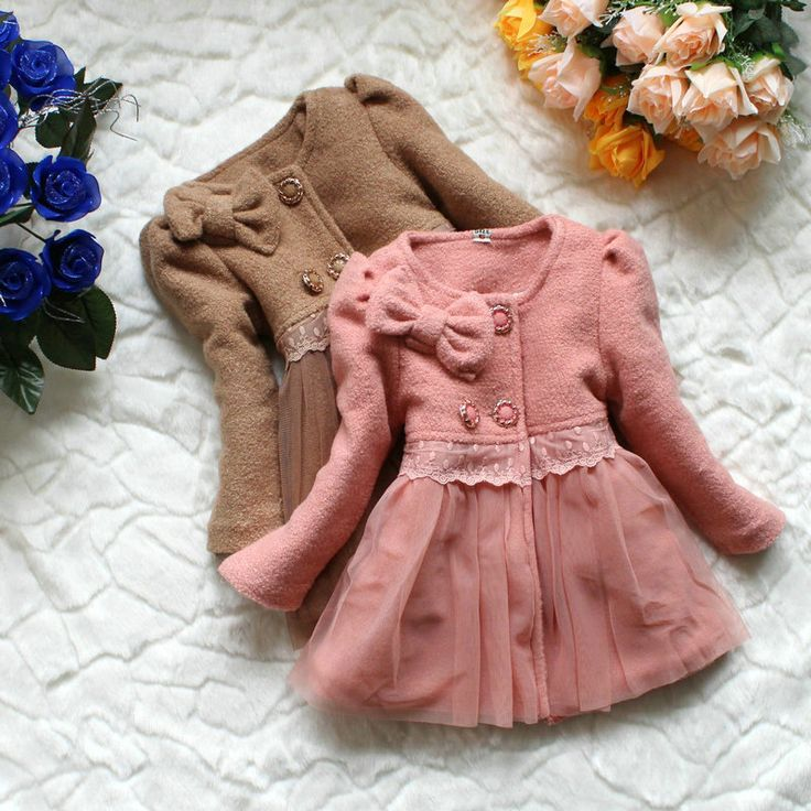 girl's coats new 2013 autumn winter dress coat kids clothing baby warm Wool Blends jacket for girls kids outerwear children wear-in Jackets ...