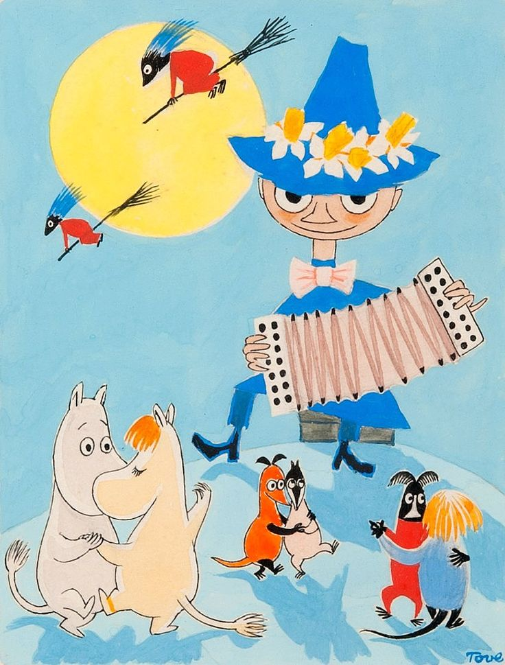 Charming Moomin Easter paintings by Tove Jansson