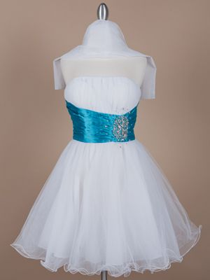 dama dress ~ Strong Blue Themed Quinceanera