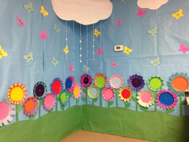 Paper plate flower garden!
