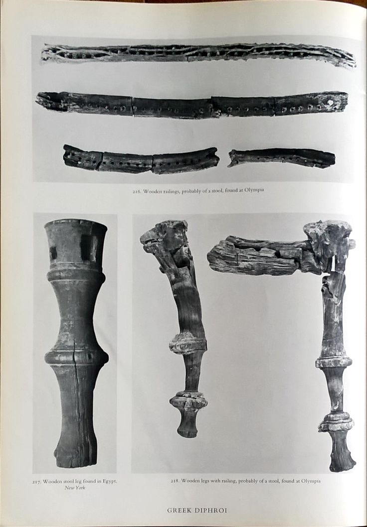 Fragments of ancient diphroi. THE FURNITURE OF THE GREEKS ETRUSCANS & ROMANS by G.M.A. RICHTER