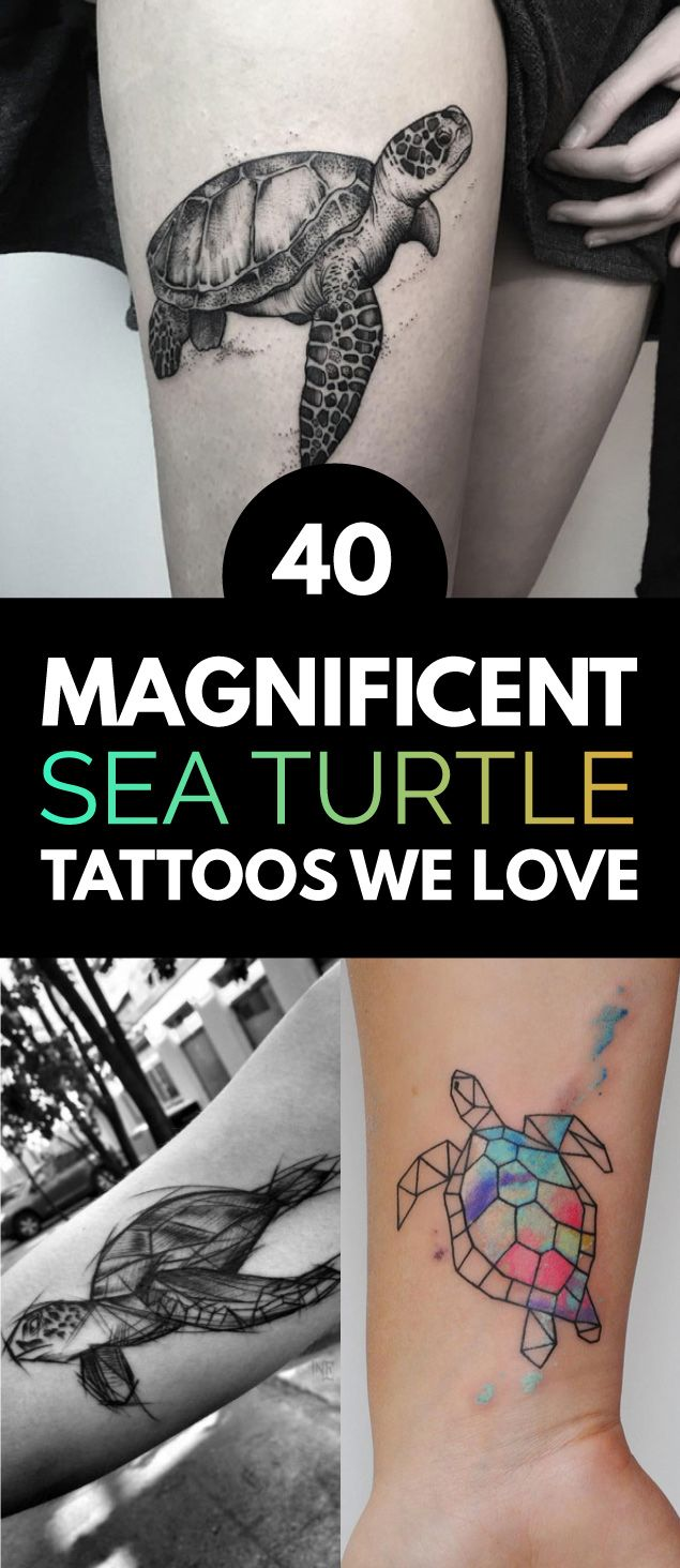 40 Magnificent Sea Turtle Tattoos We Love | TattooBlend