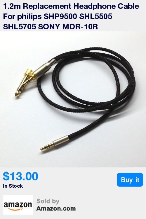 Replacement Headphone Cable For philips SHP9500 SHL5505 SHL5705 SONY MDR-10R headphones * length:1.2m(3.9ft) * Cable Diameter : 4mm,cable material:the inside cable is OFC wire * 3.5mm/6.35mm male to 3.5mm male * fit philips Fidelio X1 SHP9500 SHL5505 SHL5705 SONY MDR-10R 10RC headphones