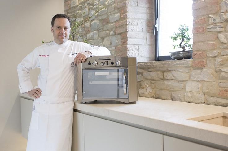 "Luca Marchini owner of the Restaurant ""Erba del Re"" in Modena, Italy, Michelin Star with WeGrill. www.wegrill.eu"