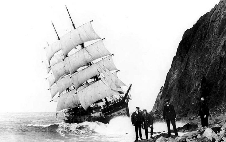 Wreck of the Glenesslin || 1st October 1913  Approaching the Columbia River for a cargo of wheat, The Glenesslin was sighted under full sail on a calm sea and in perfect visibility, standing in dangerously close to the Oregon coast. With no apparent effort to change course, the vessel crashed head-on into the rocks at the base of Mt. Neah-Kah-Nie. A line was taken from the ship by people on shore, all hands left the ship safely, but none of them seemed able to satisfactorily explain the…