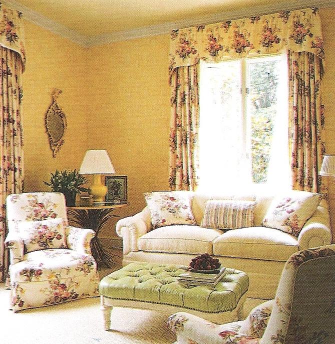 Albert Hadley Interior Design. Washington DC residence, sitting room. Image Traditional Home Nov 2003