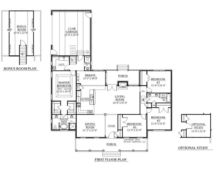 House Plan The BIRCHWOOD B Floor
