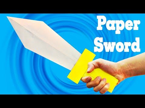 how to make origami sword with a case , Origami weapons, paper sword Part 1 - YouTube